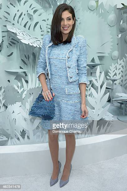 Razane Jammal attends the Chanel show as part of Paris Fashion Week HauteCouture Spring/Summer 2015 on January 27 2015 in Paris France