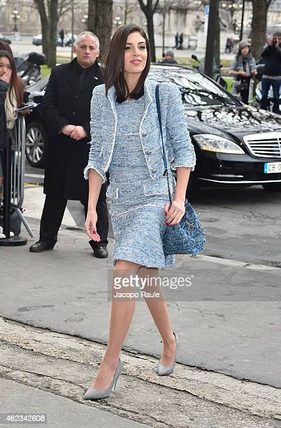 Razane Jammal attends the Chanel show as part of Paris Fashion Week Haute Couture Spring/Summer 2015 on January 27 2015 in Paris France