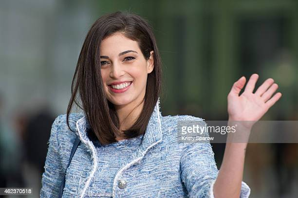 Razane Jammal attends the Chanel show as part of Paris Fashion Week Haute Couture Spring/Summer 2015 at the Grand Palais on January 27 2015 in Paris...