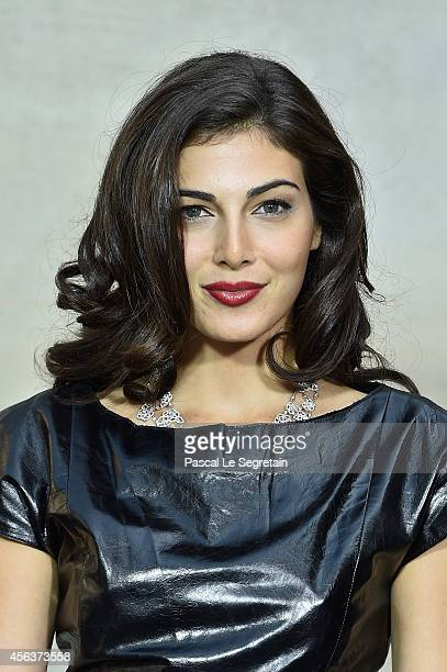 Razane Jammal attends the Chanel show as part of the Paris Fashion Week Womenswear Spring/Summer 2015 on September 30 2014 in Paris France