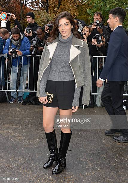 Razane Jammal attends the Chanel show as part of the Paris Fashion Week Womenswear Spring/Summer 2016 on October 6 2015 in Paris France
