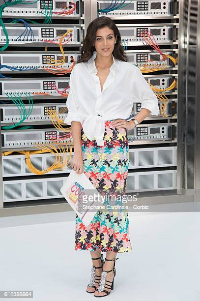 Razane Jammal attends the Chanel show as part of the Paris Fashion Week Womenswear Spring/Summer 2017 on October 4 2016 in Paris France