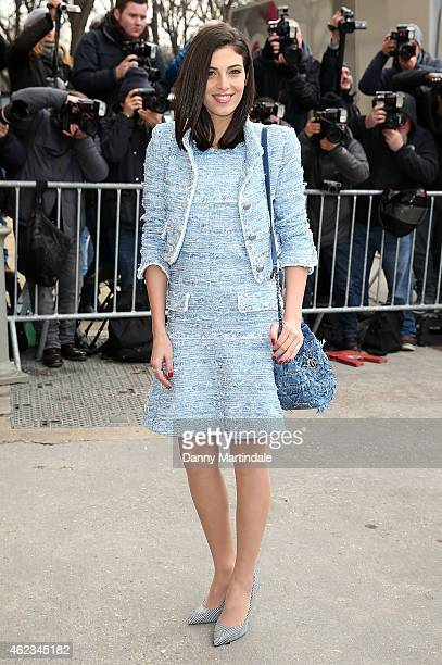 Razane Jammal attends the Chanel show on day 3 of Paris Fashion Week Haute Couture S/S 2015 on January 27 2015 in Paris France