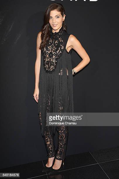 Razane Jammal attends the Elie Saab Haute Couture Fall/Winter 20162017 show as part of Paris Fashion Week on July 6 2016 in Paris France