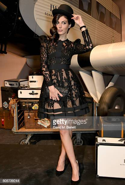 Razane Jammal attends the IWC 'Come Fly with us' Gala Dinner during the launch of the Pilot's Watches Novelties from the Swiss luxury watch...