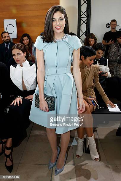 Razane Jammal attends the Stephane Rolland show as part of Paris Fashion Week Haute Couture Spring/Summer 2015 on January 27 2015 in Paris France
