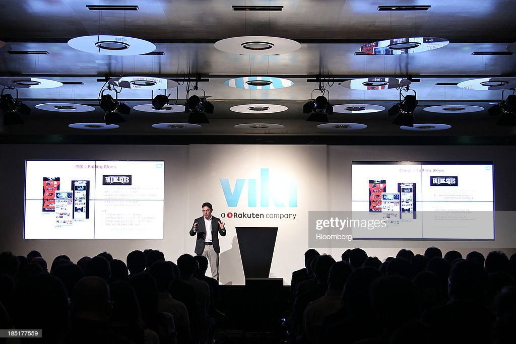 Razmig Hovaghimian, chief executive officer and co-founder of Viki Inc., speaks during a news conference in Tokyo, Japan, on Friday, Oct. 18, 2013. Rakuten Inc., controlled by billionaire Hiroshi Mikitani, last month agreed to buy streaming video service provider Viki Inc. as the Japanese Internet retailer seeks to expand into new digital offerings. Photographer: Junko Kimura/Bloomberg via Getty Images