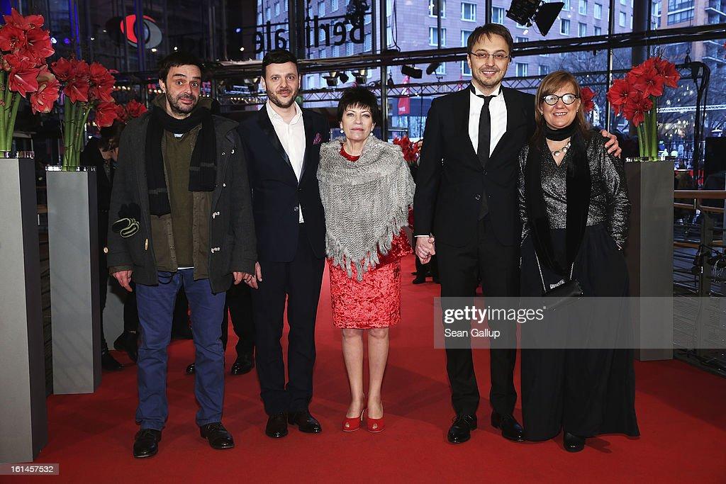 Razvan Radulescu Bogdan Dumitrache Luminita Gheorghiu Calin Peter Netzer and Ada Solomon attend the 'Child's Pose' Premiere during the 63rd Berlinale...