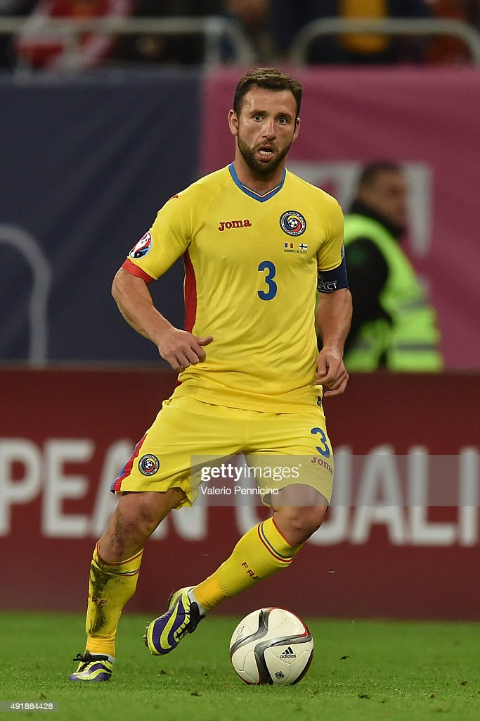 Razvan Rat of Romania in action during the UEFA EURO 2016 Qualifier between Romania and Finland on October 8, 2015 in Bucharest, Romania.