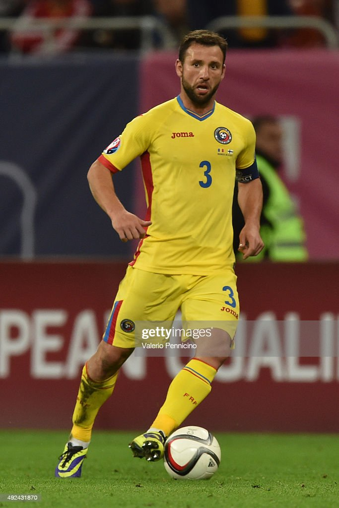 <a gi-track='captionPersonalityLinkClicked' href=/galleries/search?phrase=Razvan+Rat&family=editorial&specificpeople=2147212 ng-click='$event.stopPropagation()'>Razvan Rat</a> of Romania in action during the UEFA EURO 2016 Qualifier between Romania and Finland on October 8, 2015 in Bucharest, Romania.