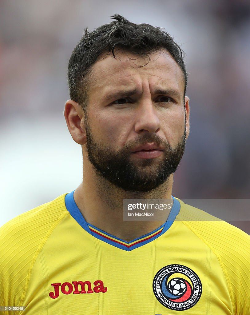 <a gi-track='captionPersonalityLinkClicked' href=/galleries/search?phrase=Razvan+Rat&family=editorial&specificpeople=2147212 ng-click='$event.stopPropagation()'>Razvan Rat</a> of Romania looks on during the UEFA EURO 2016 Group A match between Romania and Switzerland at Parc des Princes on June 15, 2016 in Paris, France.