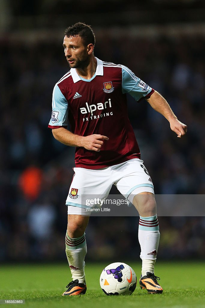 <a gi-track='captionPersonalityLinkClicked' href=/galleries/search?phrase=Razvan+Rat&family=editorial&specificpeople=2147212 ng-click='$event.stopPropagation()'>Razvan Rat</a> of West Ham controls the ball during the Barclays Premier League match between West Ham United and Manchester City at Boleyn Ground on October 19, 2013 in London, England.