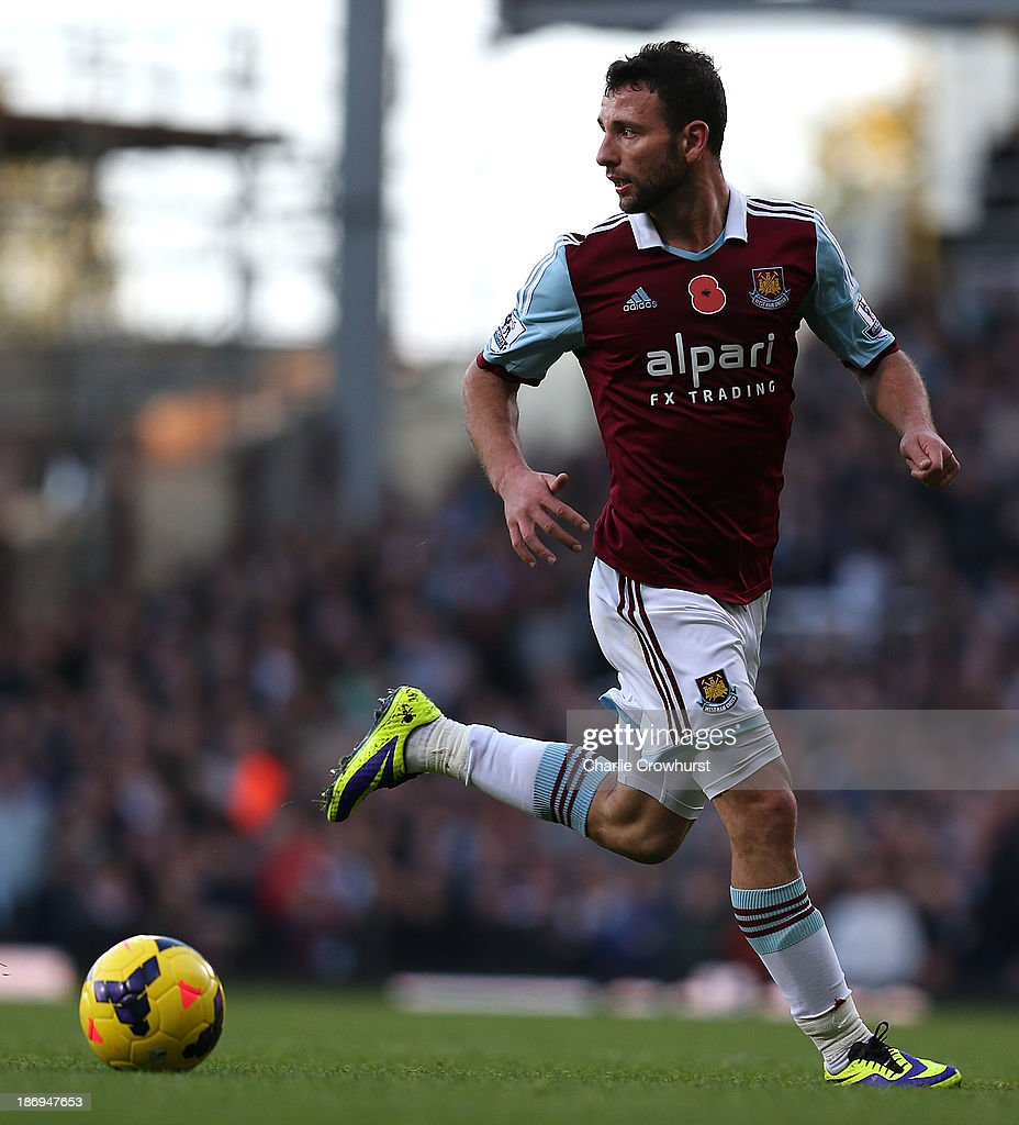 <a gi-track='captionPersonalityLinkClicked' href=/galleries/search?phrase=Razvan+Rat&family=editorial&specificpeople=2147212 ng-click='$event.stopPropagation()'>Razvan Rat</a> of West Ham looks to attack during the Barclays Premier League match between West Ham United and Aston Villa at Upton Park on November 02, 2013 in London, England.