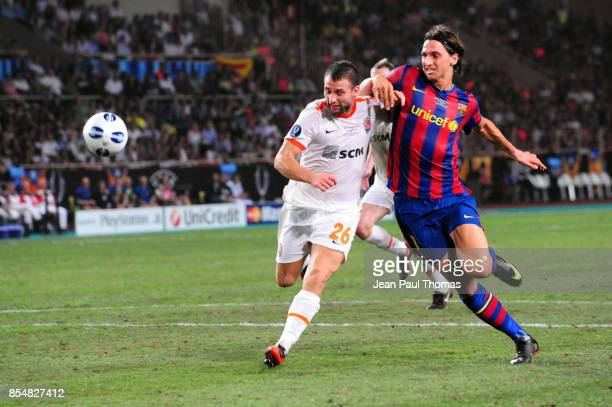 Razvan RAT / Zlatan IBRAHIMOVIC Barcelone / Shakhtar Donetsk Super Coupe d Europe 2009 Stade Louis II de Monaco
