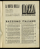 'La Difesa della Razza' or 'The Defence of the Race' the manifesto of italian racism developed in 10 points by a group of university professors under...