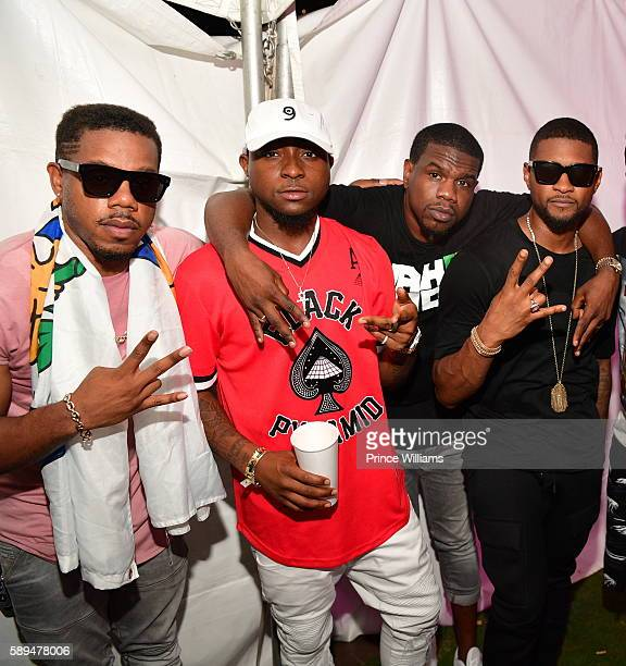 City Timothy Thomas Davido Theron Thomas and Usher attend the 2016 Passport Experience at Centennial Olympic Park on August 13 2016 in Atlanta Georgia