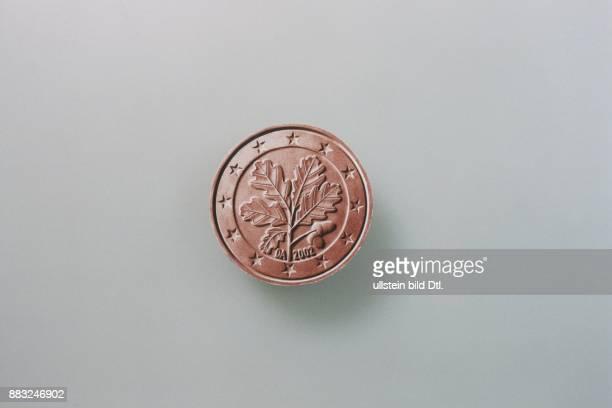 Rückseite der deutschen 1 Cent Münze gleich wie die 2 und 5 Cent Münzen