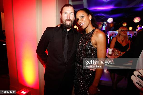Rea Garvey and Barbara Becker are seen at the after show party of the GQ Men Of The Year Award 2014 after show party at Komische Oper on November 6...