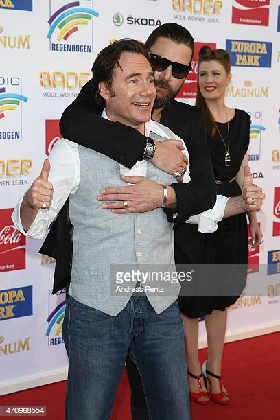Rea Garvey and Michael 'Bully' Herbig attend the Radio Regenbogen Award 2015 at Europapark on April 24 2015 in Rust Germany