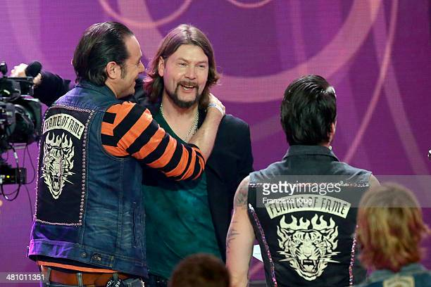 Rea Garvey and The BossHoss attend the Echo Award 2014 show on March 27 2014 in Berlin Germany