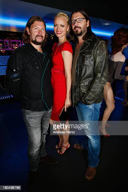 Rea Garvey Franziska Knuppe and Christian Moestel attend No1 TRUE BERLIN BY Shan Rahimkhan ghd on September 13 2013 in Berlin Germany