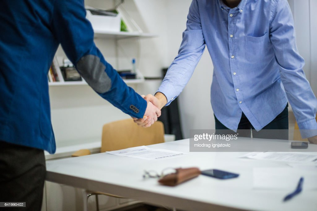 Reaching an agreement : Stock Photo