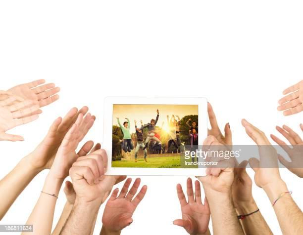 Wenn Sie die Technologie und digital tablet