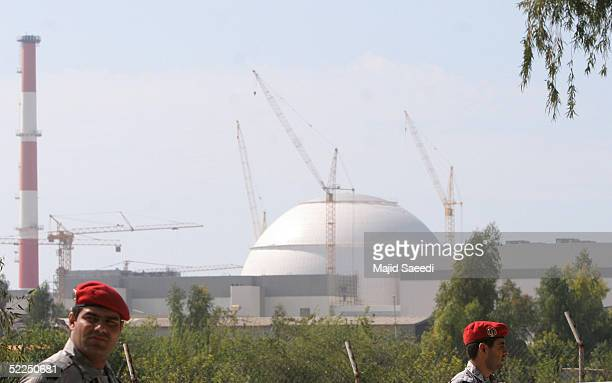 A reactor building of Iran's Bushehr nuclear power plant is seen February 27 2005 in Bushehr Iran Iran and Russia signed a nuclear fuel agreement a...