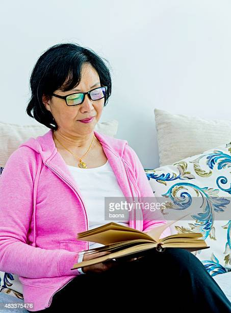 reading a book at home