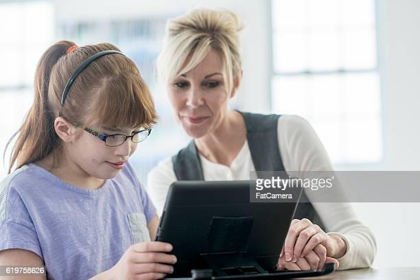 Reading an eBook on a Digital Tablet