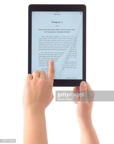 Reading e-book with iPad Air 2
