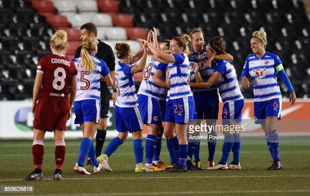 Reading FC Women after scoring the thrid goal during the Women's Super League match between Liverpool Ladies and Reading FC Women at Select Security...