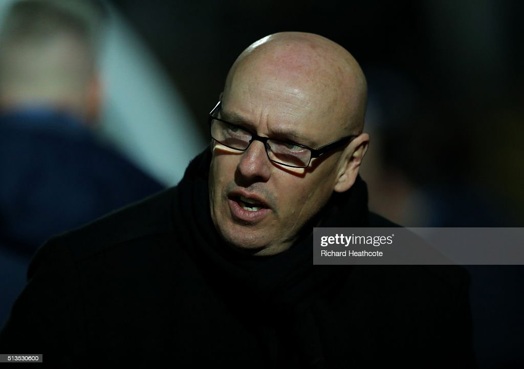 Reading first team manager Brian McDermott looks on during the Barclays U21 Premier League match between Reading U21 and Tottenham Hotspur U21 at Adams Park on March 3, 2016 in High Wycombe, England.
