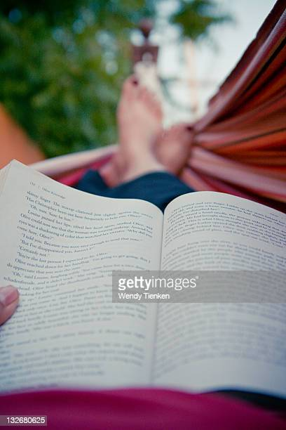 Reading in hammock