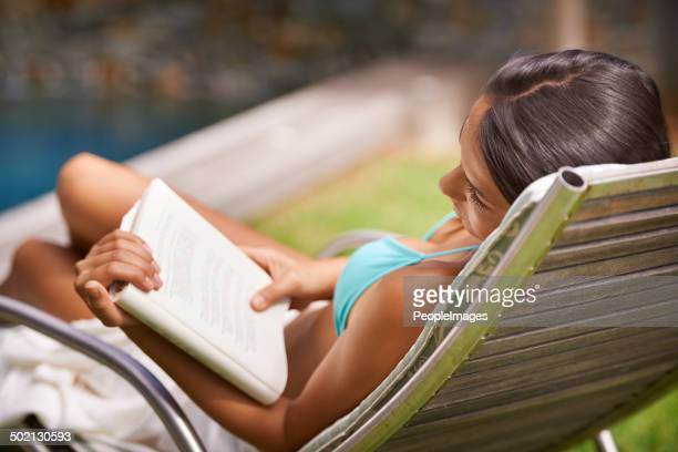 Reading in the summer sun