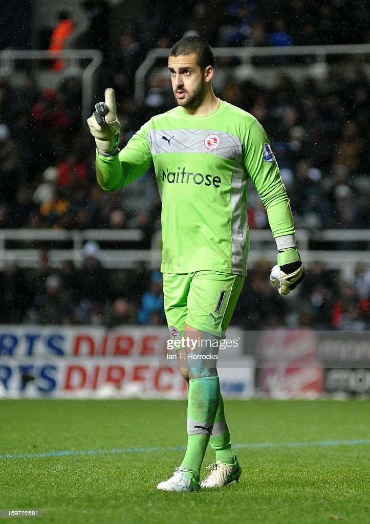 Reading keeper Adam Federici during the Barclays Premier League match between Newcastle United and Reading at St James' Park on January 19, 2013 in Newcastle upon Tyne, England.