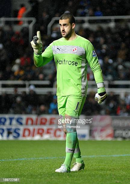 Reading keeper Adam Federici during the Barclays Premier League match between Newcastle United and Reading at St James' Park on January 19 2013 in...