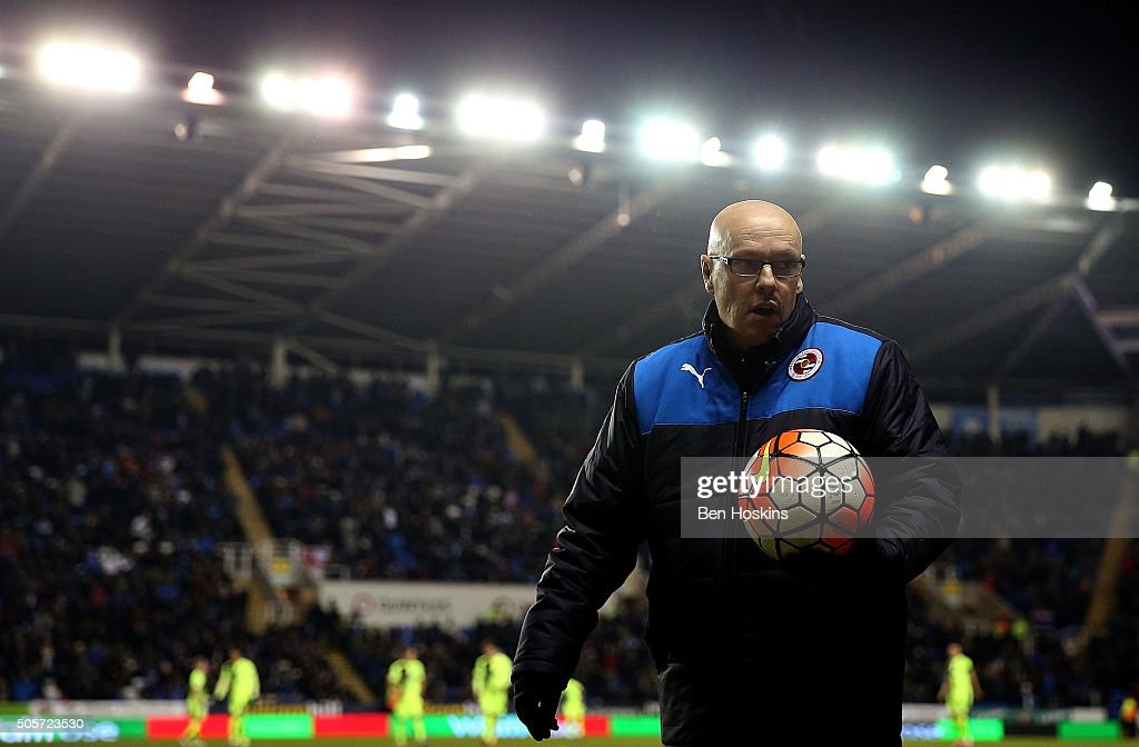 Reading manager <a gi-track='captionPersonalityLinkClicked' href=/galleries/search?phrase=Brian+McDermott+-+Dirigente+calcistico&family=editorial&specificpeople=9647614 ng-click='$event.stopPropagation()'>Brian McDermott</a> looks on ahead of The Emirates FA Cup Second Round match between Reading and Huddersfield Town at Madejski Stadium on January 19, 2016 in Reading, England.