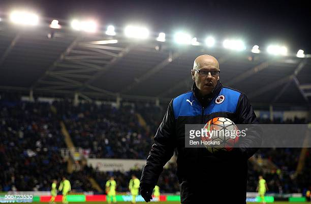 Reading manager Brian McDermott looks on ahead of The Emirates FA Cup Second Round match between Reading and Huddersfield Town at Madejski Stadium on...
