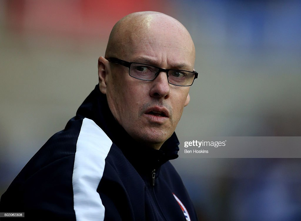 Reading manager <a gi-track='captionPersonalityLinkClicked' href=/galleries/search?phrase=Brian+McDermott+-+Soccer+Manager&family=editorial&specificpeople=9647614 ng-click='$event.stopPropagation()'>Brian McDermott</a> looks on ahead of the Sky Bet Championship match between Reading and Blackburn Rovers on December 20, 2015 in Reading, United Kingdom.