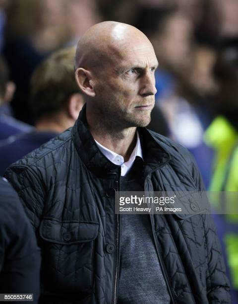 Reading manager Jaap Stam during the Carabao Cup third round match at the Madejski Stadium Reading