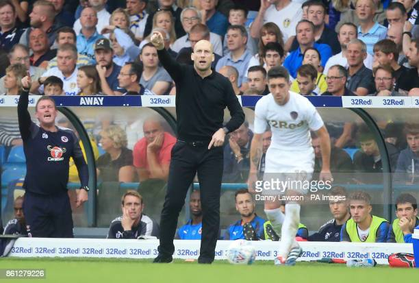 Reading manager Jaap Stam during the Sky Bet Championship match at Elland Road Leeds