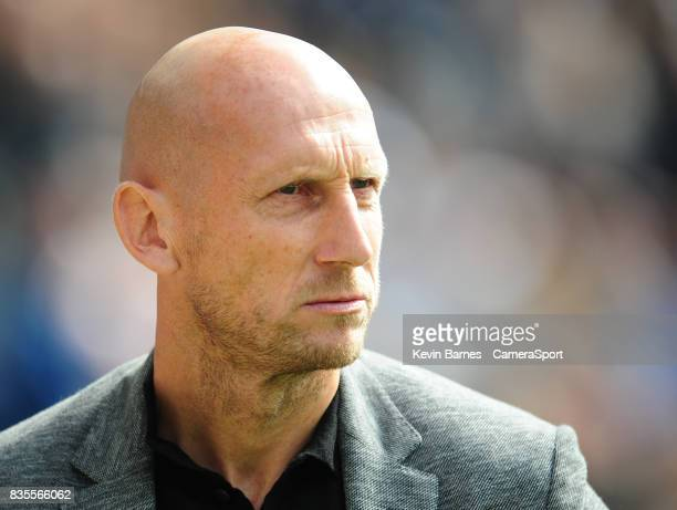 Reading manager Jaap Stam during the Sky Bet Championship match between Preston North End and Reading at Deepdale on August 19 2017 in Preston England