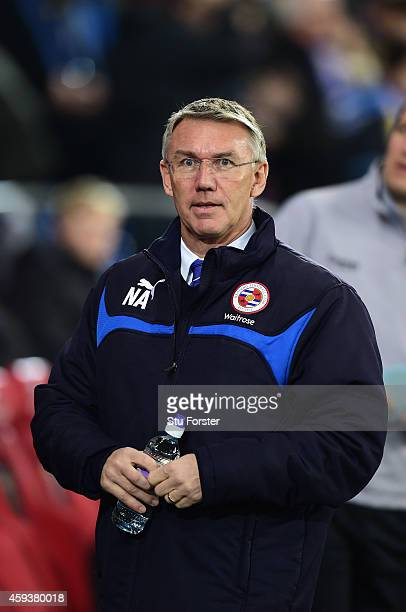 Reading manager Nigel Adkins looks on before the Sky Bet Championship match between Cardiff City and Reading at Cardiff City Stadium on November 21...
