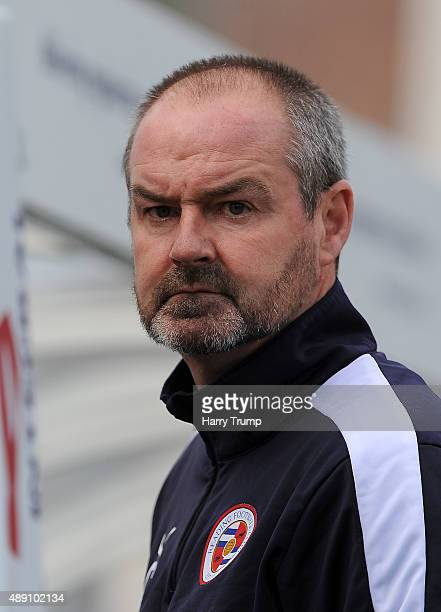 Reading Manager Steve Clarke during the Sky Bet Championship match between Bristol City and Reading at Ashton Gate on September 19 2015 in Bristol...