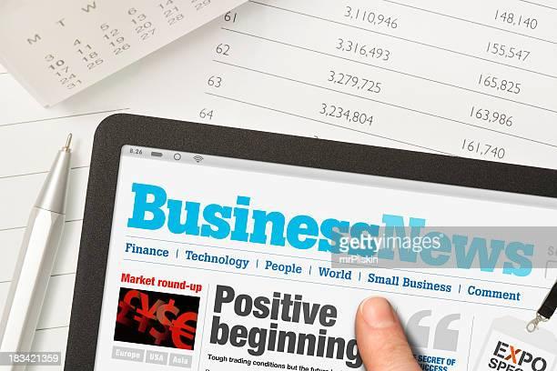 Lesen Nachrichten auf einem touchscreen-Gerät