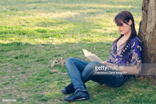 Reading outdoors
