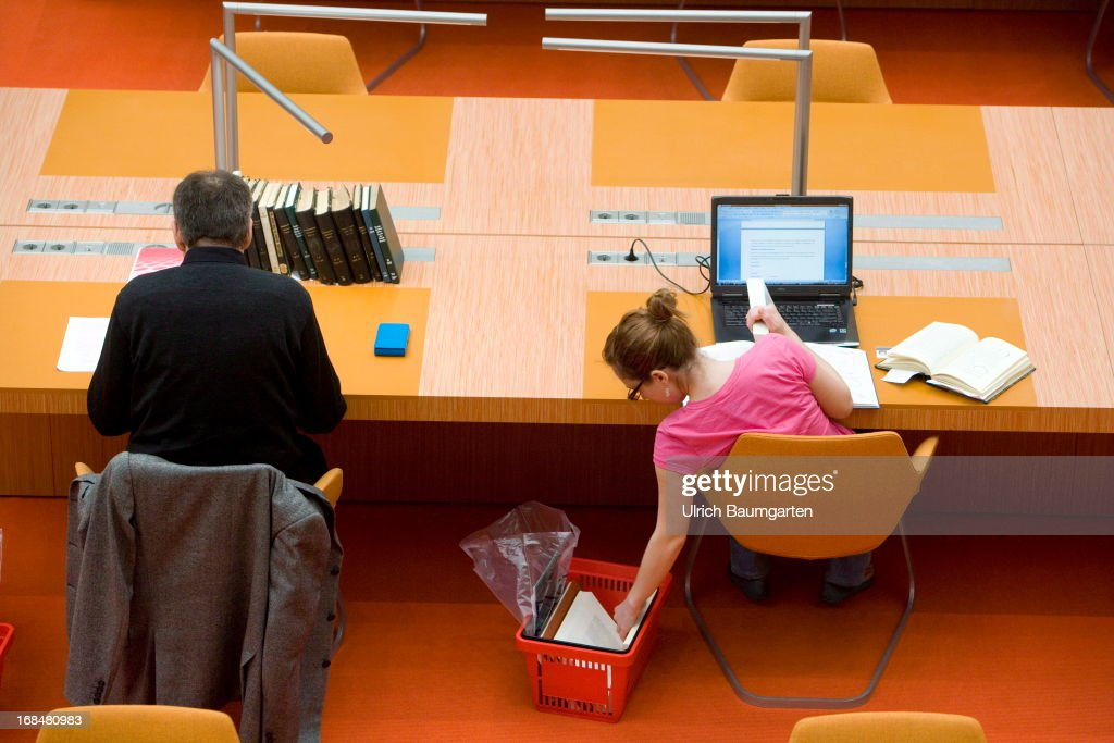 Reading room in the state library Berlin on April 26, 2013 in Berlin, Germany. (Photo by Ulrich Baumgarten via Getty Images