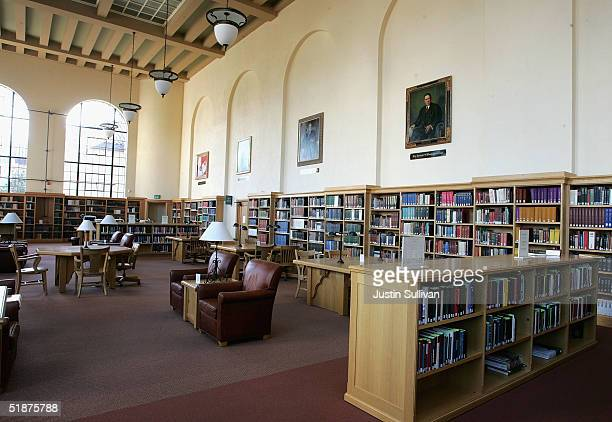 A reading room is seen at the Cecil H Green Library on the Stanford University Campus December 17 2004 in Stanford California Google the internet...