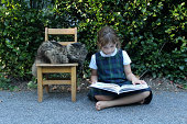 Reading to a Cat